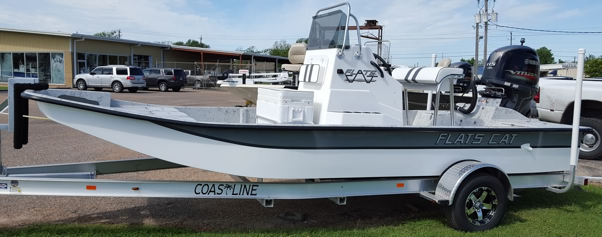 19 foot Flats Cat shallow water catarmaran fishing boat
